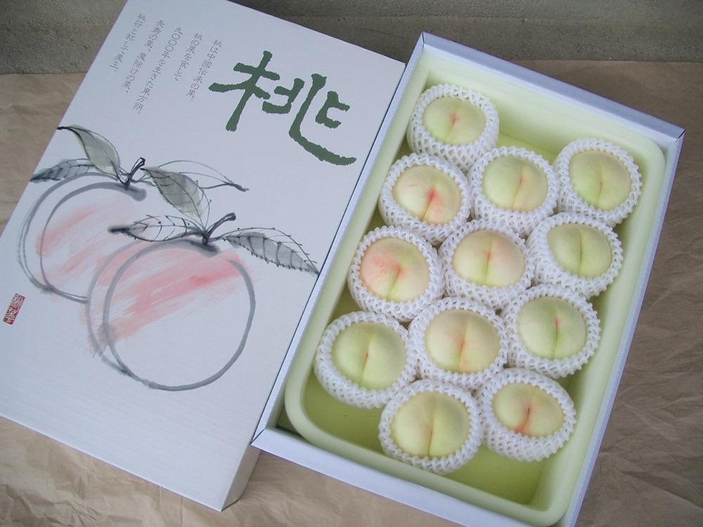 特選清水白桃【4kg】贈答用の画像