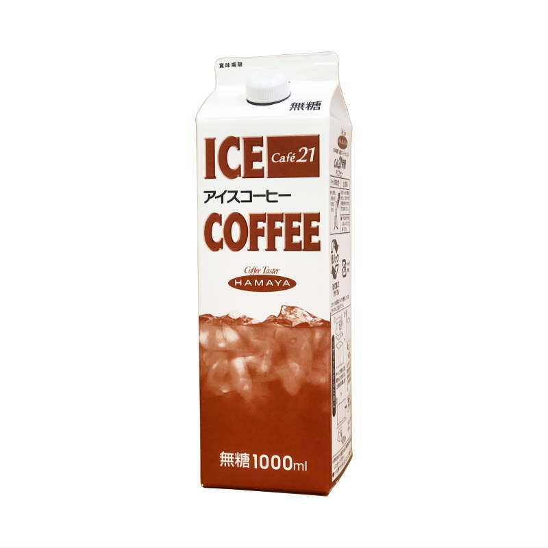 Cafe21 アイスコーヒー 無糖 1リットルパック画像