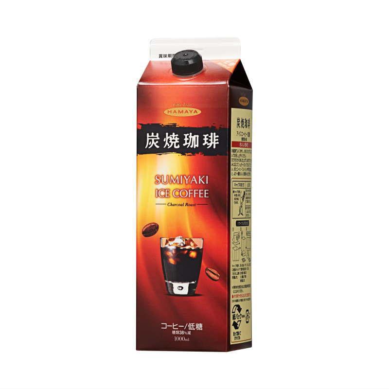 炭焼アイスコーヒー 低糖 1リットルパック画像