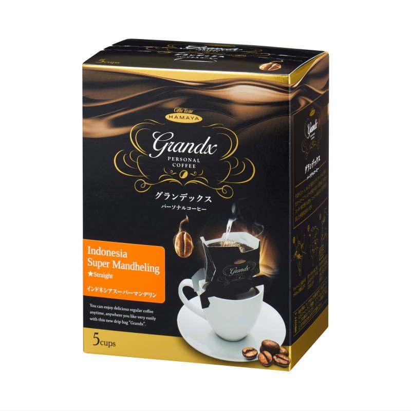グランデックスパーソナルコーヒー インドネシア スーパーマンデリン 5袋画像