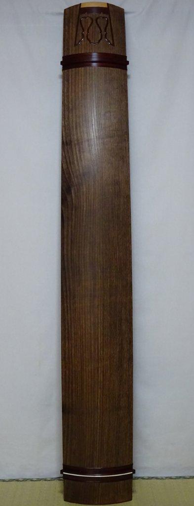 13絃琴上 柾 会津材  紅木玉縁  クリ甲 六宝彫りの画像