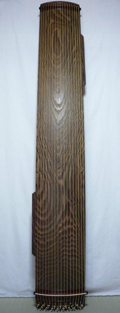 17絃琴 紅木玉縁 両ピン 綾杉 クリ甲 7尺の画像