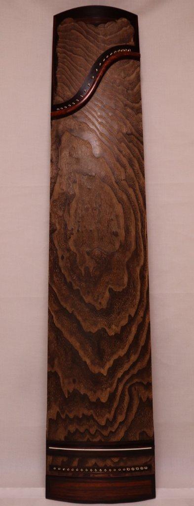 中国琴 21絃古琴 紫檀巻き 刳甲 会津桐(40年)の画像
