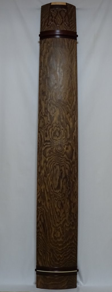 13絃琴上 紅木玉縁 会津材 クリ甲 綾杉の画像