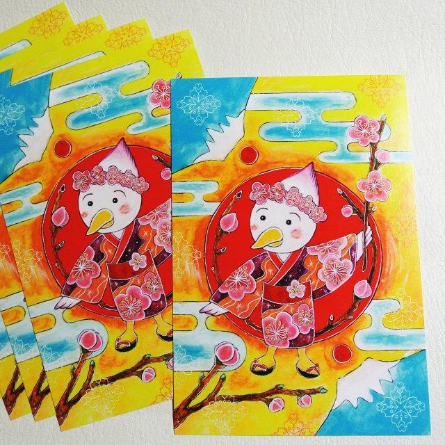 「酉花神楽」絵画カードの画像