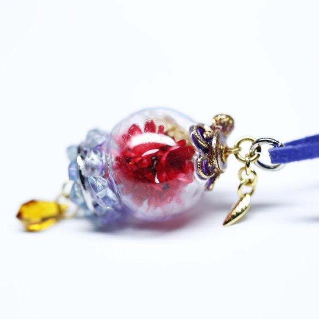 花球体ガラスドームランプペンダント【華麗】の画像