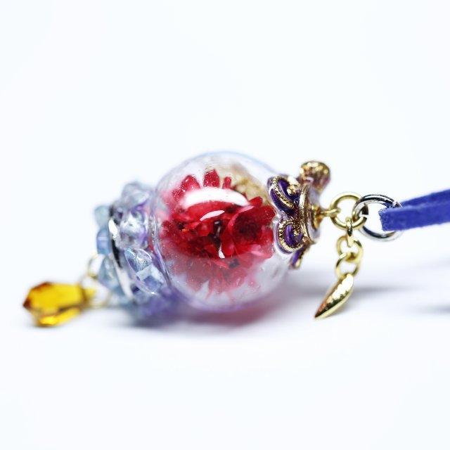 花球体ガラスドームランプペンダント【華麗】画像