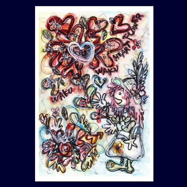 「 花!羽!HEART!ERIN 」絵画カード画像