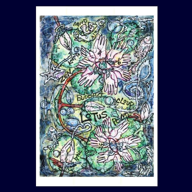 「 LOTAS POND 開眼の天座 」絵画カードの画像