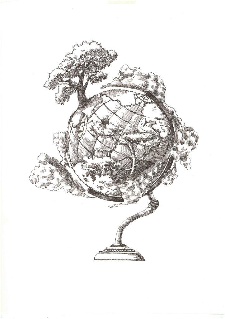 4.地球儀の画像
