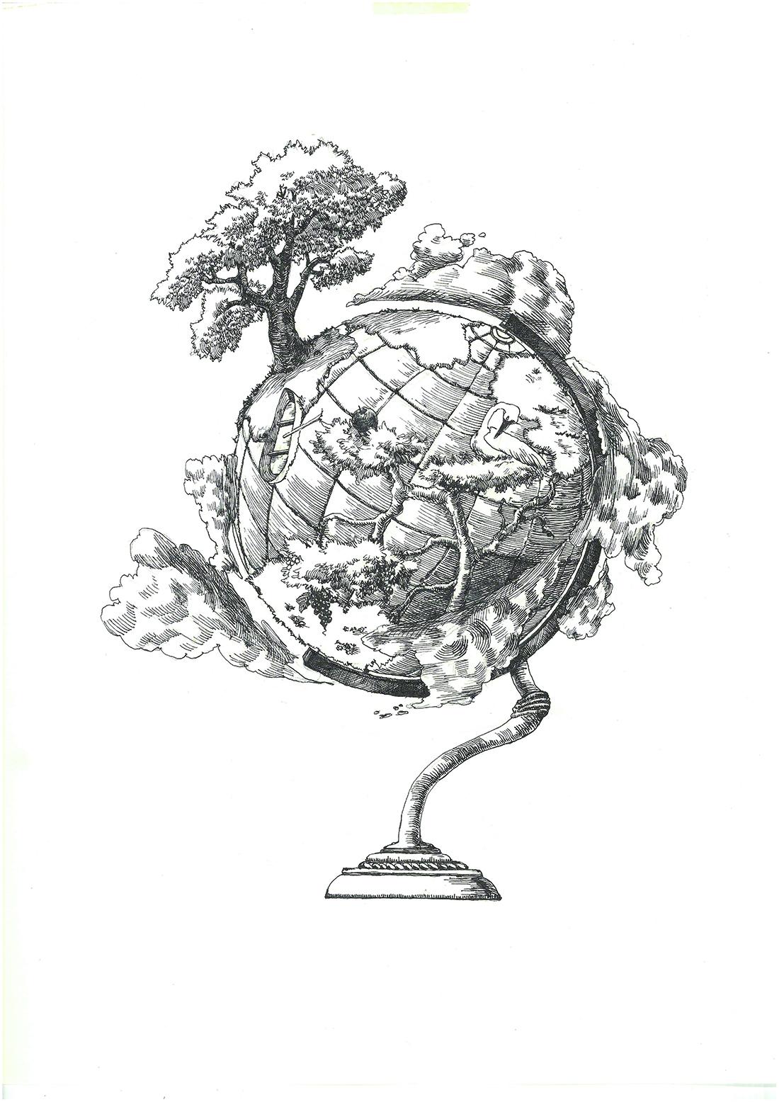 4.地球儀画像