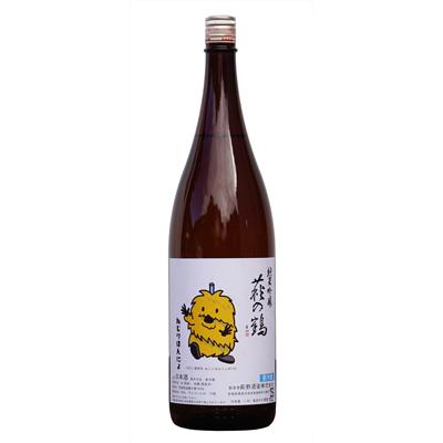 萩の鶴 純米吟醸 ねじりほんにょラベル画像