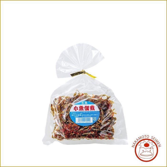 五島 小魚佃煮 100g 袋 贈って喜ばれるマイワシの稚魚「カエリ」の佃煮・ご飯のお供やおにぎりに画像