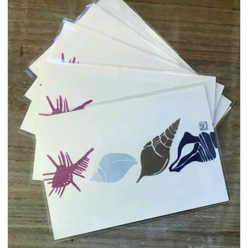 手捺しはんこポストカード<貝殻>の画像