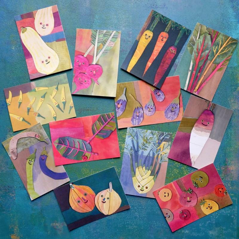 鎌倉野菜のポストカード12枚セットの画像