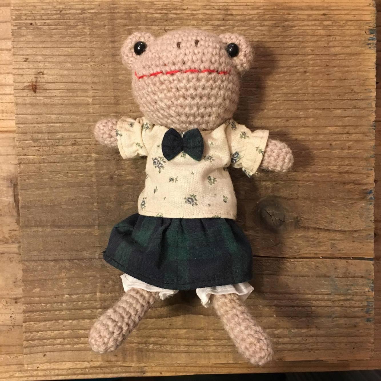 かえるのなみちゃん人形①の画像