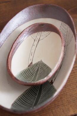 大谷桃子 バナナの葉ボート皿画像