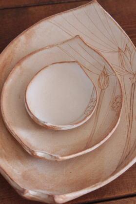 大谷桃子 蓮弁皿画像