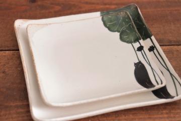 大谷桃子 黒ネコ角皿画像