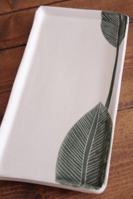 大谷桃子 バナナの葉角長皿画像