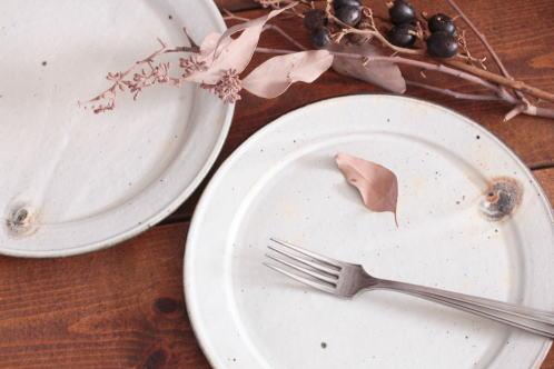 十河隆史 粉引幅広リム皿画像