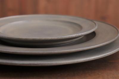 富井貴志 白漆リム皿画像