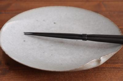 高田志保 灰釉7寸片口皿画像