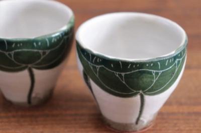 大谷桃子 ハスの葉フリーカップ画像