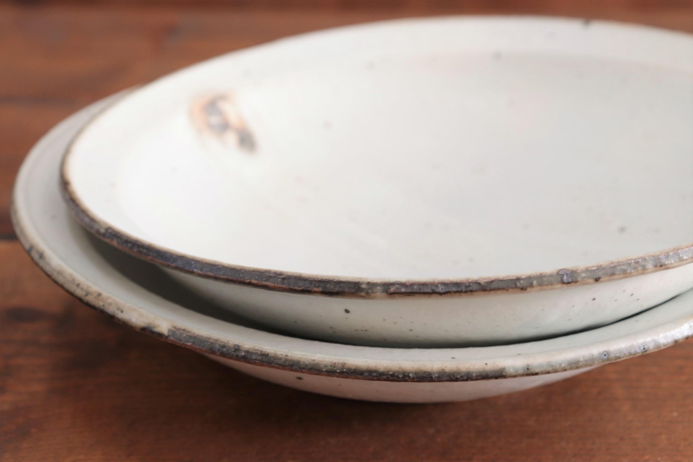 十河隆史 粉引7寸リム皿画像