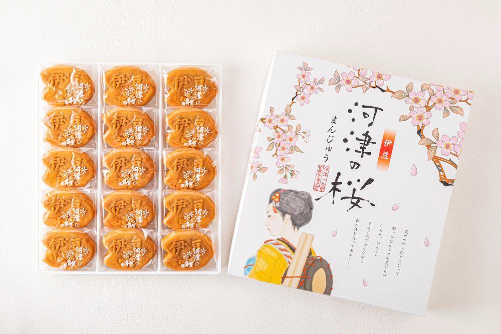 河津の桜まんじゅう 15個入り画像