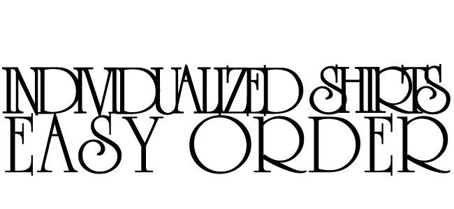 INDIVIDUALIZED SHIRTS EASY ORDER