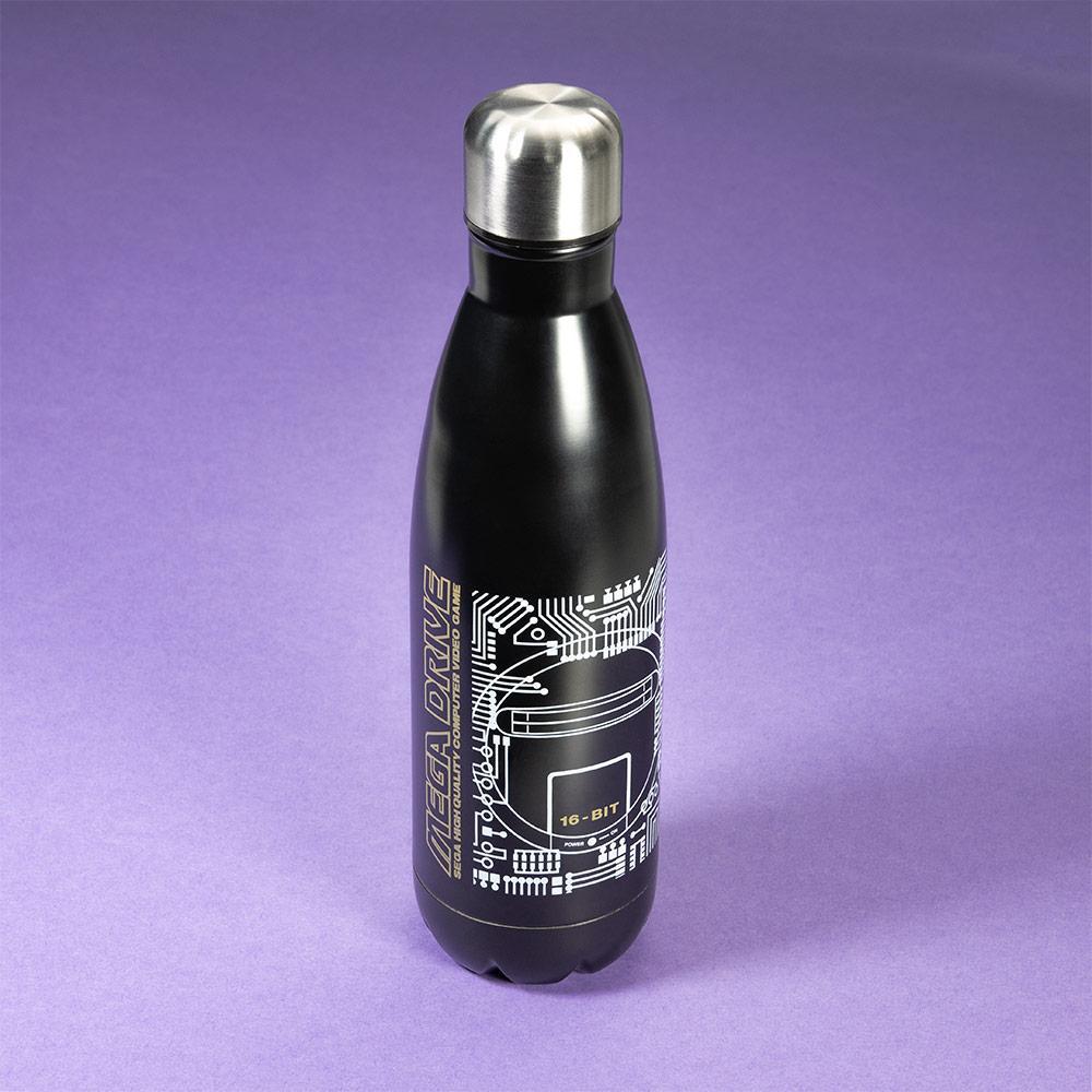 Mega Drive 'Technical Spec' Black Bowling Pin Style Water Bottle画像