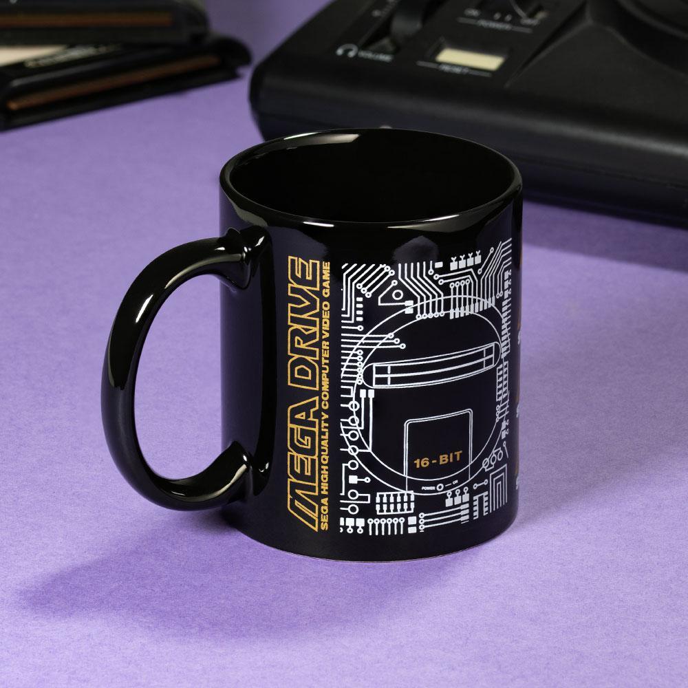 Mega Drive 'Logo' Black Ceramic Mug画像