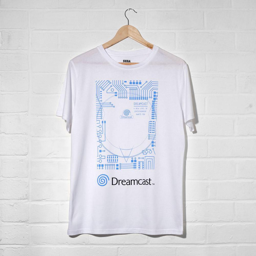 Dreamcast White T-Shirt (Unisex) UK 2XL画像