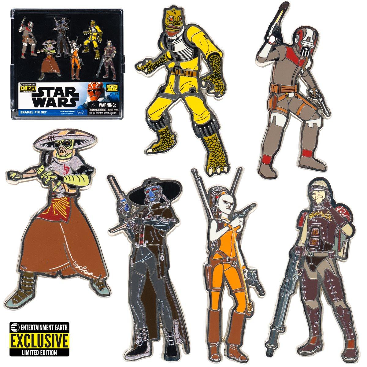 Star Wars Bounty Hunters Enamel Pin 6-Pack画像