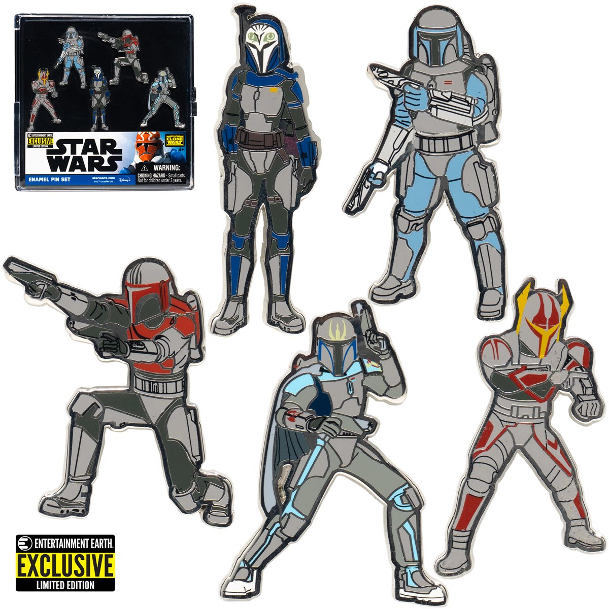 Star Wars Mandalorians Enamel Pin 5-Pack画像