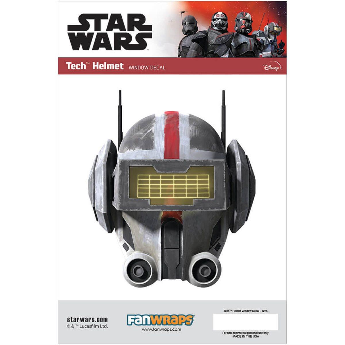 Star Wars Tech Helmet Window Decal画像
