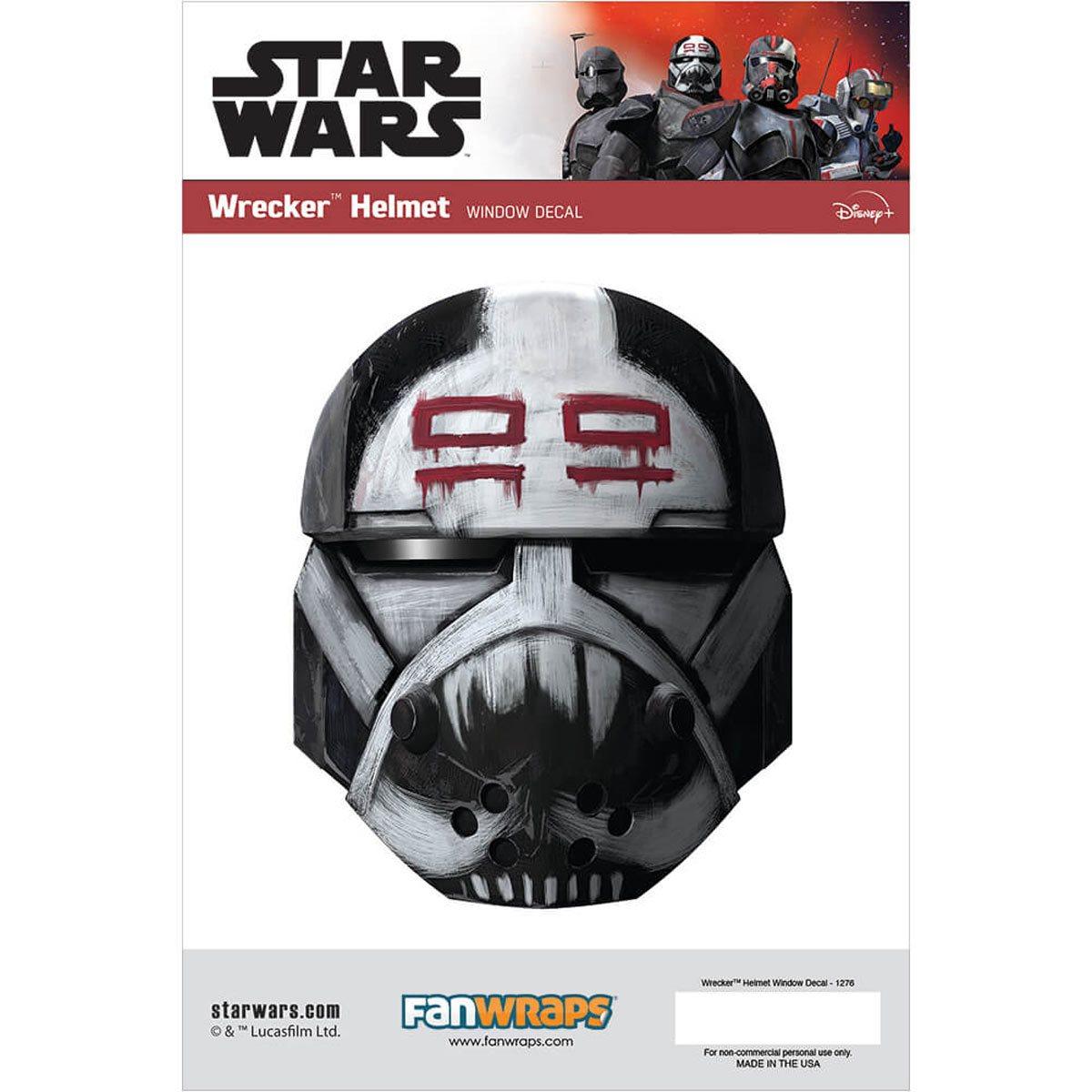 Star Wars Wrecker Helmet Window Decal画像