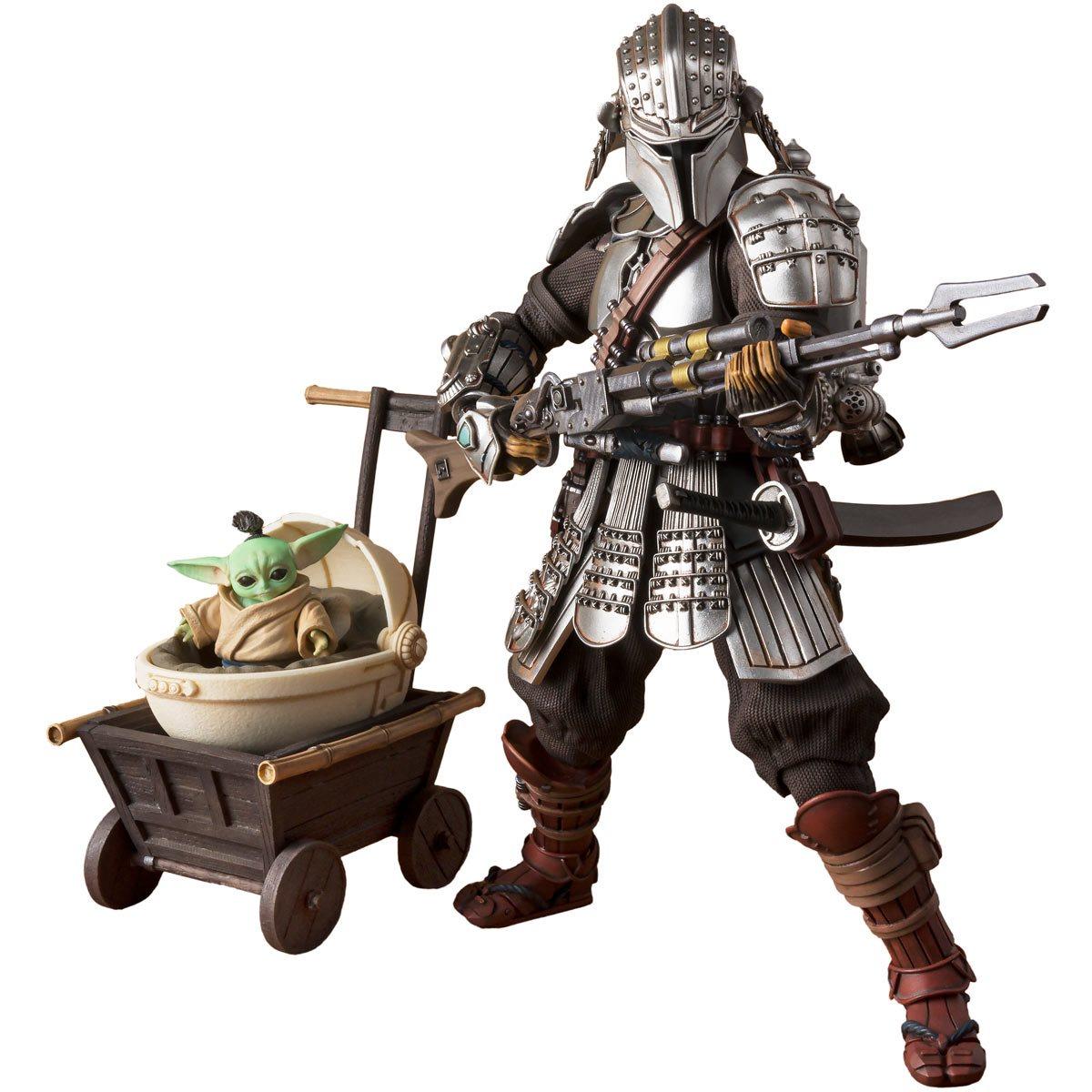 Star Wars Meisho Movie Realization Ronin Mandalorian & Grogu Action Figure画像