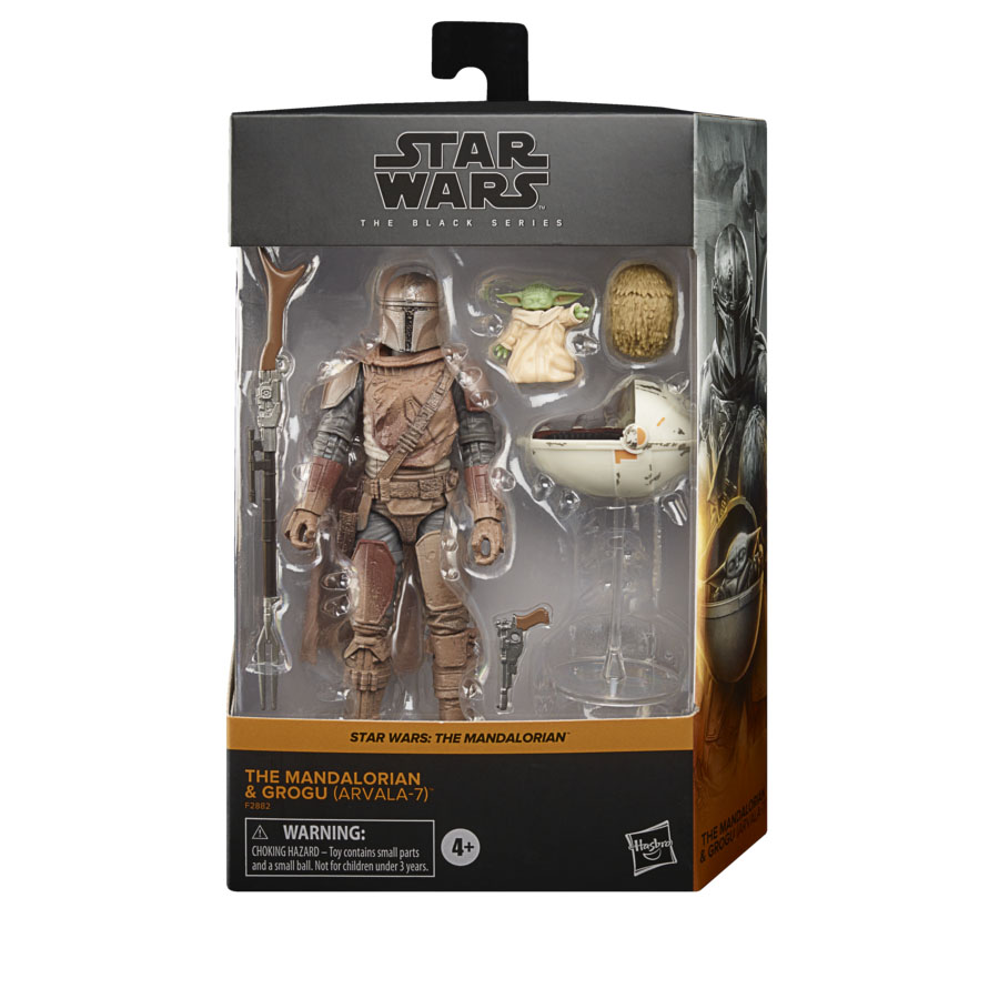 Star Wars The Black Series Din Djarin and The Child Arvala-7 6-Inch Action Figure画像